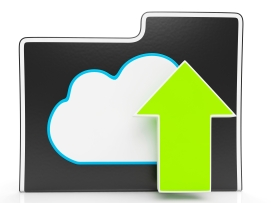 Upload Arrow And Cloud File Shows Uploading