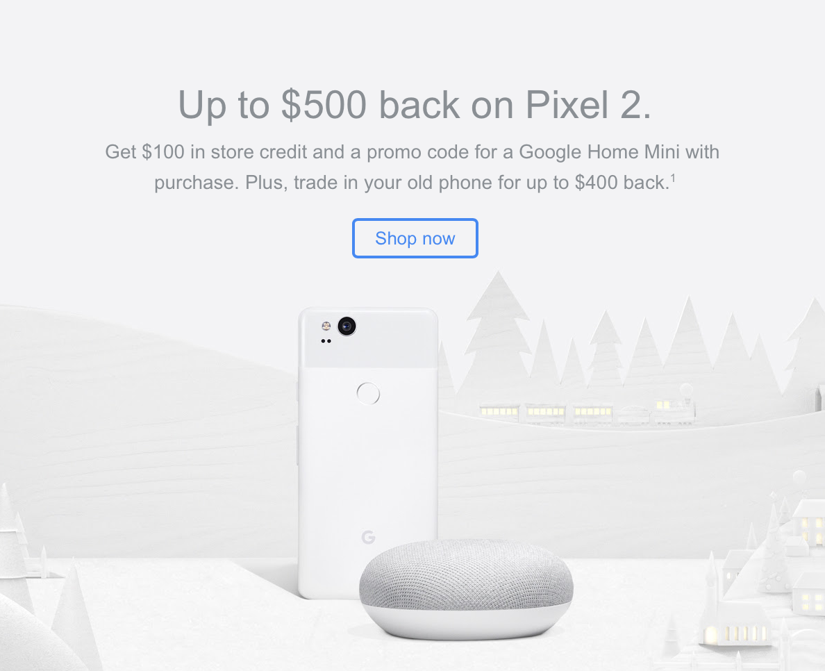 Google holiday promo means good savings & goodies when
